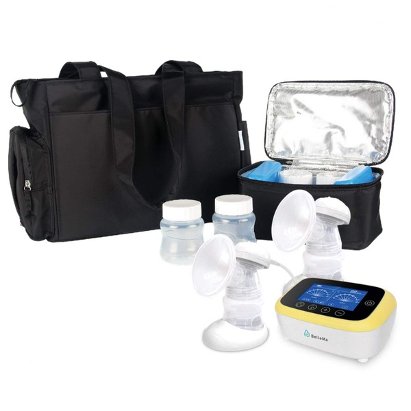 BelleMa Euphoria Pro Double Electric Breast Pump with Tote Bag and Cooler Pack (Value Pack)