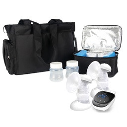 BelleMa Plethora Double Electric Breast Pump with Tote Bag and Cooler Pack (Bundle Pack)